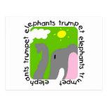Camisetas y regalos de la trompeta de los elefante postal