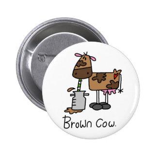 Camisetas y regalos de la vaca de Brown Pins