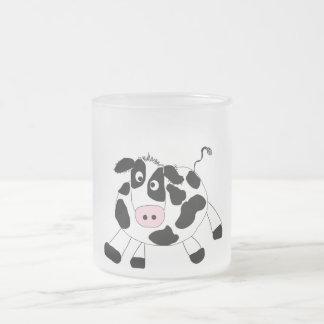 Camisetas y regalos de la vaca de la granja taza de cristal