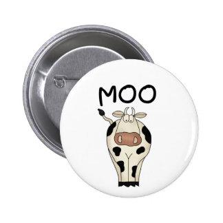 Camisetas y regalos de la vaca del MOO Pin Redondo De 2 Pulgadas