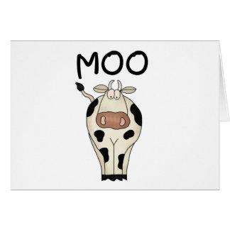 Camisetas y regalos de la vaca del MOO Tarjetón