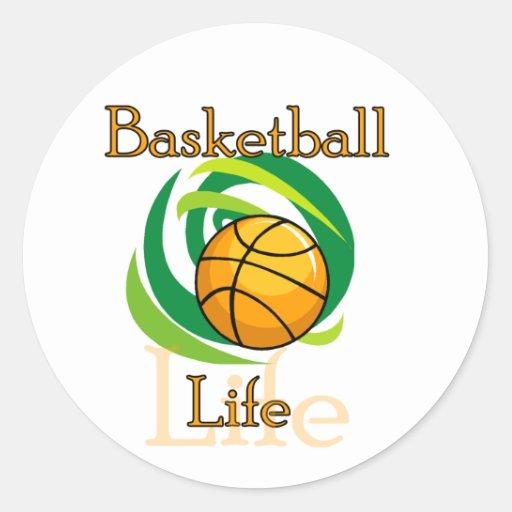Camisetas y regalos de la vida del baloncesto pegatina redonda