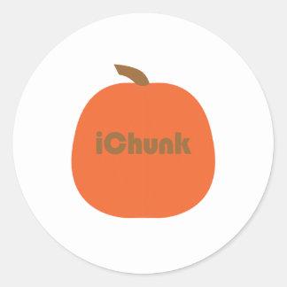 camisetas y regalos de las calabazas del ichunk pegatina redonda