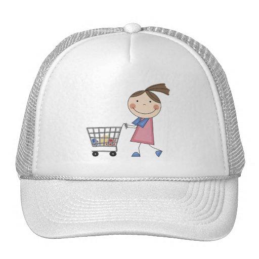 Camisetas y regalos de las compras del chica gorros