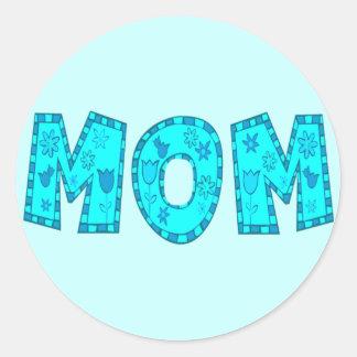 Camisetas y regalos de las madres para ella pegatina redonda
