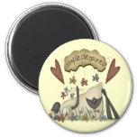 Camisetas y regalos de las ovejas de los niños imanes de nevera