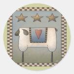 Camisetas y regalos de las ovejas de los niños pegatinas redondas