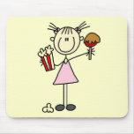 Camisetas y regalos de las palomitas y del caramel tapetes de ratones