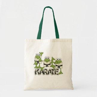 Camisetas y regalos de las ranas del karate bolsa tela barata