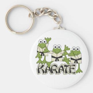 Camisetas y regalos de las ranas del karate llaveros