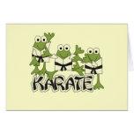 Camisetas y regalos de las ranas del karate felicitacion