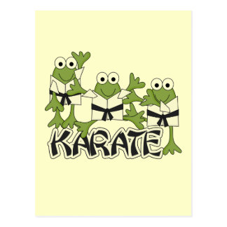 Camisetas y regalos de las ranas del karate postal