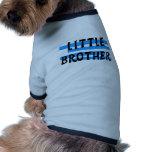 Camisetas y regalos de las rayas azules de pequeño camisetas de perrito