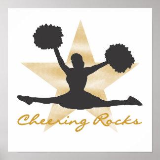 Camisetas y regalos de las rocas del oro que anima póster