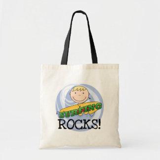 Camisetas y regalos de las rocas que practican sur bolsa tela barata