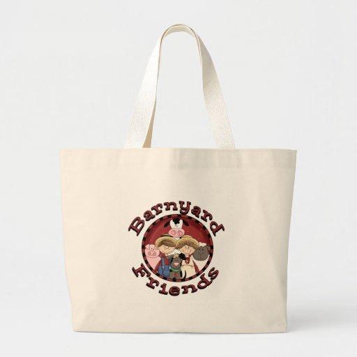 Camisetas y regalos de los amigos del corral bolsa tela grande