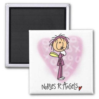 Camisetas y regalos de los ángeles de las enfermer imán cuadrado