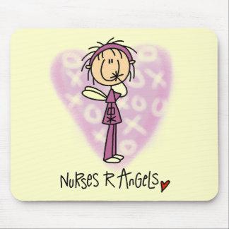 Camisetas y regalos de los ángeles de las enfermer tapete de ratón