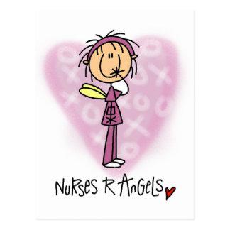 Camisetas y regalos de los ángeles de las enfermer tarjeta postal