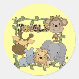 Camisetas y regalos de los animales de la selva de pegatinas