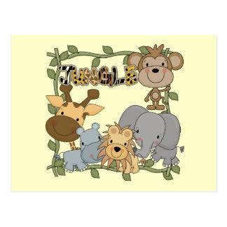Camisetas y regalos de los animales de la selva de tarjetas postales