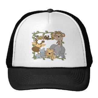 Camisetas y regalos de los animales de la selva gorros bordados