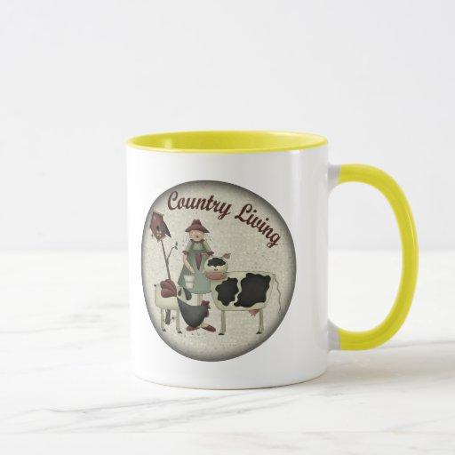 Camisetas y regalos de los animales del campo de taza