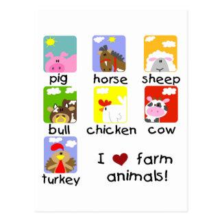 Camisetas y regalos de los animales del campo tarjetas postales