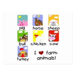 Camisetas y regalos de los animales del campo tarjeta postal