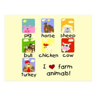 Camisetas y regalos de los animales del campo postales
