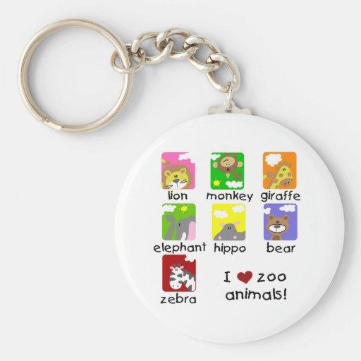 Camisetas y regalos de los animales del parque zoo llavero personalizado