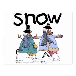 Camisetas y regalos de los compinches de la nieve postales