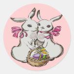 Camisetas y regalos de los conejitos de KidsTwin Pegatina Redonda