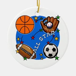 Camisetas y regalos de los deportes de All Star Adorno Navideño Redondo De Cerámica