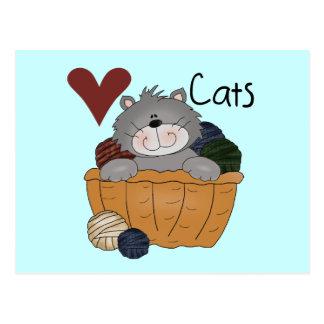 Camisetas y regalos de los gatos del amor postal