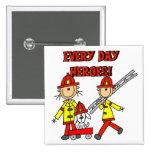 Camisetas y regalos de los héroes del bombero pins