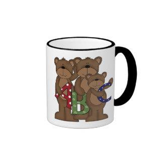 Camisetas y regalos de los osos de ABC Taza De Dos Colores