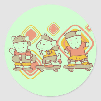 Camisetas y regalos de los ratones que andan en pegatina redonda