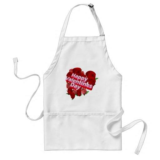 Camisetas y regalos de los rosas del el día de San Delantal