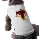 Camisetas y regalos de los toros de las ilustracio playera sin mangas para perro