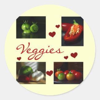 Camisetas y regalos de los Veggies Pegatina Redonda