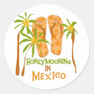 Camisetas y regalos de México de la luna de miel Pegatina Redonda