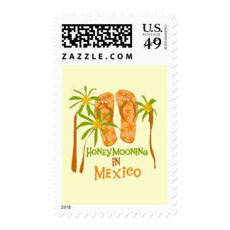 Camisetas y regalos de México de la luna de miel Franqueo