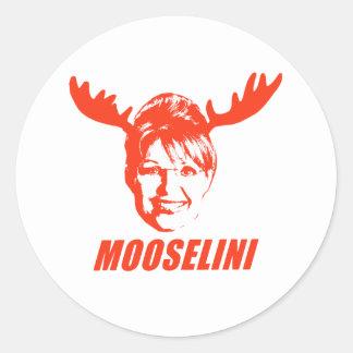 Camisetas y regalos de Mooselini Pegatina Redonda