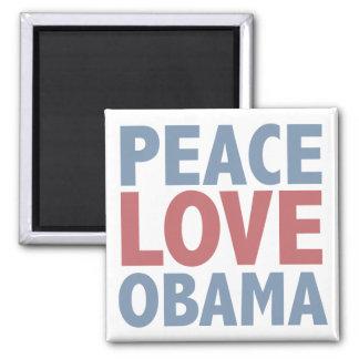 Camisetas y regalos de Obama del amor de la paz Imán Cuadrado