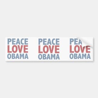 Camisetas y regalos de Obama del amor de la paz Pegatina Para Auto
