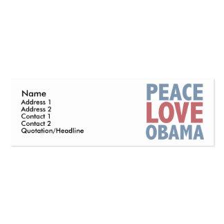 Camisetas y regalos de Obama del amor de la paz Tarjetas De Visita Mini