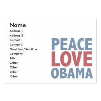 Camisetas y regalos de Obama del amor de la paz Tarjetas De Visita Grandes