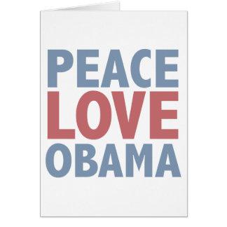 Camisetas y regalos de Obama del amor de la paz Tarjeta De Felicitación
