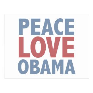 Camisetas y regalos de Obama del amor de la paz Tarjetas Postales